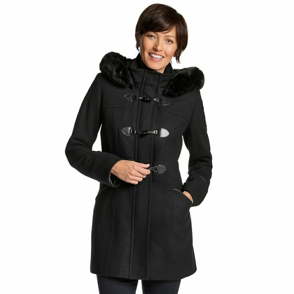 e1f336fe626 FORECASTER Wool-Blend Faux Fur Hooded Coat